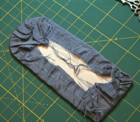 Gathered Backing Fabric