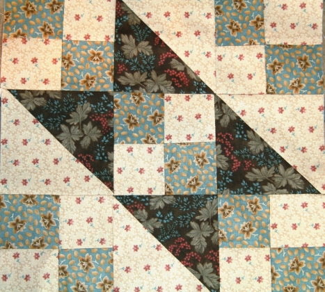 Jacob's Ladder Quilt Square using Heritage for a Cause by Moda