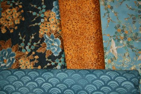 Mystery Quilt Fabrics Closeup