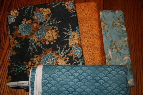 Fabrics for my Mystery Quilt