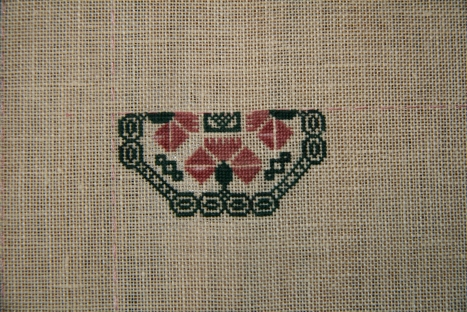 Close-up of over 1 section, this is what I stitched on April 11