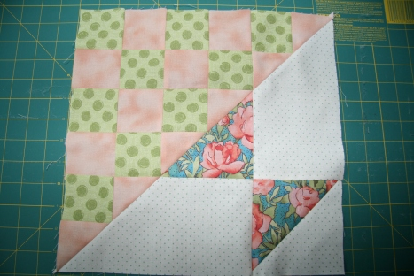 Saturday Sampler April Block - Floral Colorway