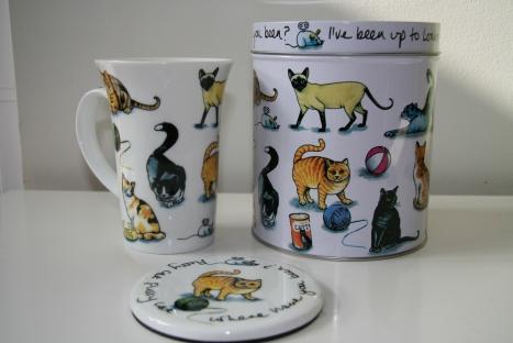 Mug, Tin and Coaster - gift from Mom