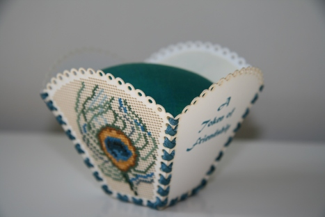 Another view of my new beautiful pin cushion